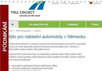 Toll Collect: Mýto Pro Nákladní Automobily V Německu